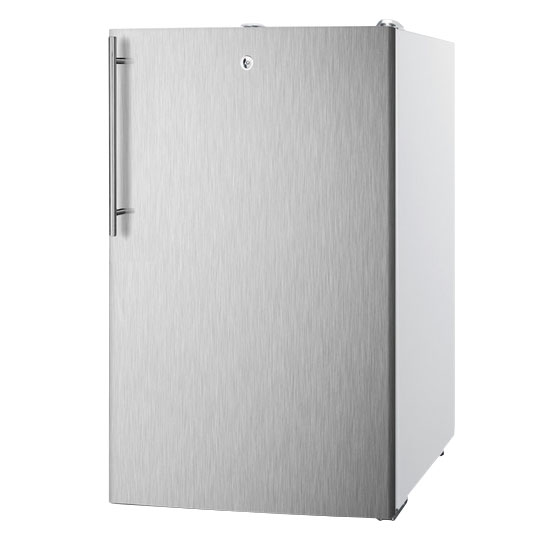 Summit Refrigeration FS407LBISSHVADA Built In Freezer, Lock & Thin Handle, Stainless/White, 2.8-cu ft