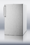 Summit Refrigeration FS407LBISSTBADA 20-un Undercounter Freezer w/ Lock & Towel Bar Handle, White, 2.8-cu ft, ADA