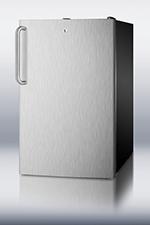 Summit Refrigeration FS408BLBI7SSTB 2.8-cu ft Undercounter Freezer w/ (1) Section & (1) Door, 115v