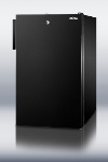 Summit FS408BLBIADA 20-in Undercounter Freezer w/ Lock, Black, 2.8-cu ft, ADA