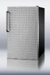 Summit Refrigeration FS408BLBIDPLADA 20-in Undercounter Freezer w/ Lock & Diamond Plate Wrapped Door, Black, 2.8-cu ft, ADA