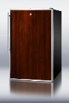 Summit FS408BLBIFRADA 20-in Built In Undercounter Freezer w/ Lock & Slide in Panels, Stainless, 2.8-cu ft, ADA
