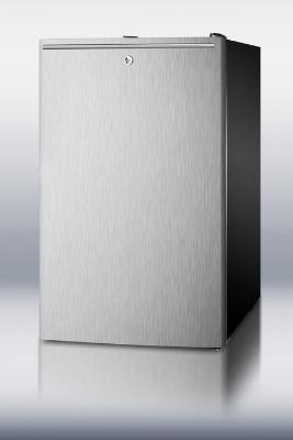 Summit FS408BLBISSHH Built In Freezer, Horizontal Handle, Lock, 2.8-cu ft, Black/Stainless