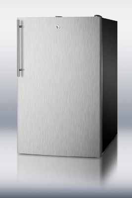 Summit FS408BLBISSHVADA 20-in Undercounter Freezer w/ Lock & Thin Handle, Black, 2.8-cu ft, ADA