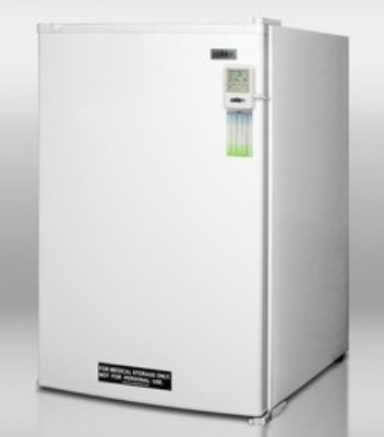 Summit Refrigeration FS60LMED Counter Height Freezer, Manual Defrost, 5.0 cu ft, White Cab & Door