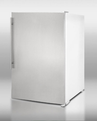 Summit Refrigeration FS60SSVH Manual Defrost All-Freezer, 22 in Wide, White w/ Stainless Steel