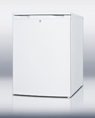 Summit FSM50LES Slim Counter Height Freezer w/ Manual Defrost & 5-Shelves, White, 4.4-cu ft