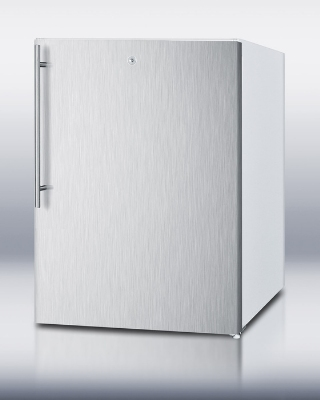 Summit FSM50LESSSHVADA F32x24-in Freezer w/ Manual Defrost, 2-Fixed Shelves & Handle, White, 4.4-cu ft