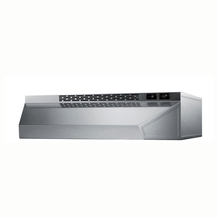 Summit Refrigeration H1620SS Convertible Range Hood for Ducted or Ductless Use, 20 in Wide, Stainless Steel
