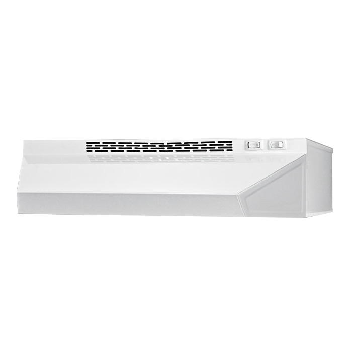 Summit Refrigeration H1620W Convertible Range Hood for Ducted or Ductless Use, 20 in Wide, White