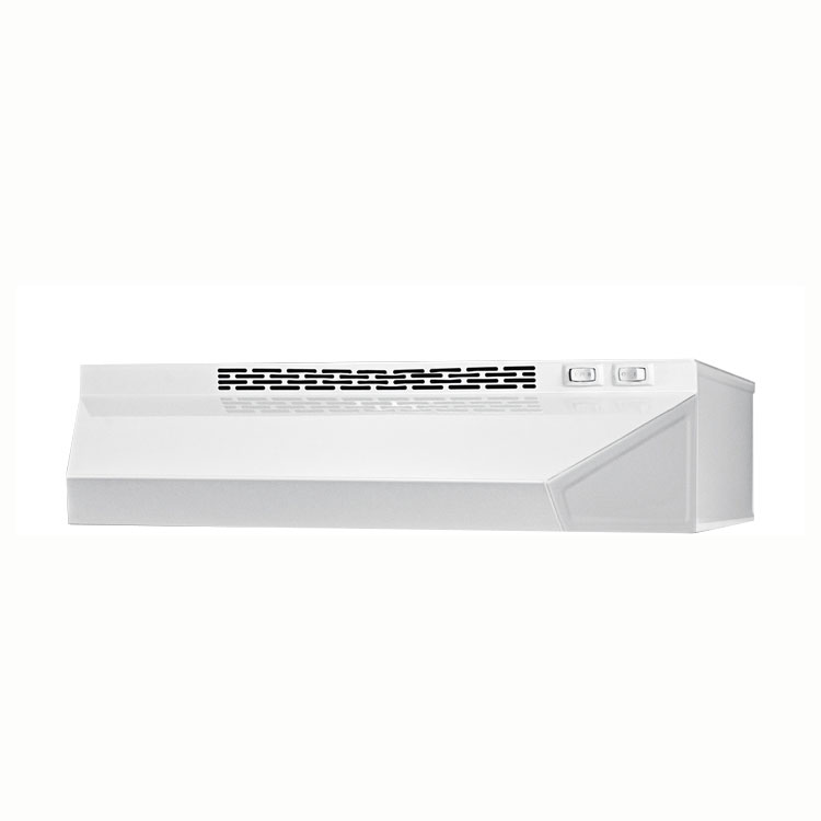 Summit H1624W Convertible Range Hood for Ducted or Ductless Use, 24 in Wide, White
