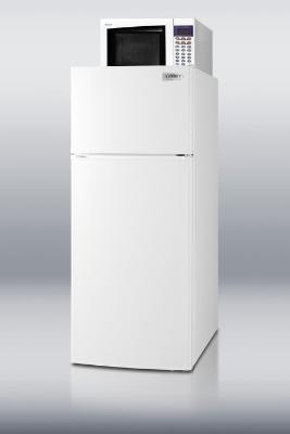 Summit Refrigeration MRF1112 Frost-Free Defrost Refrigerator-Freezer w/ Microwave Oven 23.75 in Wide White Restaurant Supply