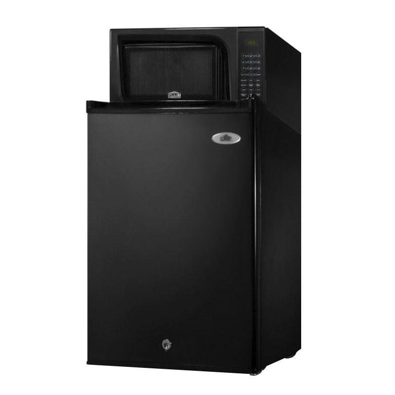 "Summit Refrigeration MRF29B 18.5"" Refrigerator/Microwave Combo - Auto Defrost, 2.5 cu ft, Black"