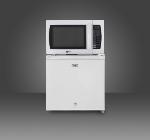 Summit Refrigeration MRF2L Refrigerator w/ Cube Shape, Reversible Door & Auto Defrost, White, 1.8-cu ft