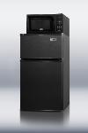 Summit Refrigeration MRF35B Refrigerator Freezer Microwave w/ Cycle Defrost & Allocator Box, Black, 2.9-cu ft