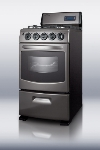 Summit PRO20 20-in Wide Gas Range w/ Sealed Burners & Electronic Ignition, Oven Window