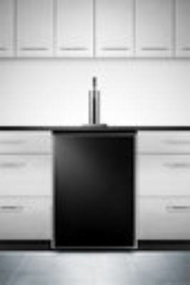 Summit Refrigeration SBC490BI7FR Beer Dispenser Converts Black Built-In Auto Defrost 23 3/4in 1 Keg Restaurant Supply