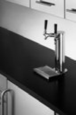 Summit Refrigeration SBC490BI7SSTBTW Beer Dispenser Converts Black Built-In Twin Tap Kit 23 3/4 in 1 Keg Restaurant Supply