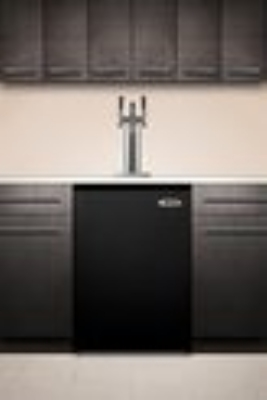 Summit Refrigeration SBC490BI7TRIPLE Beer Dispenser Converts Black Undercounter 3 Tap Kit 23 3/4 in 1 Keg Restaurant Supply
