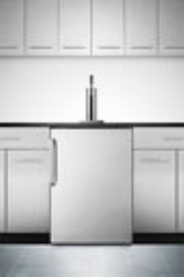 Summit Refrigeration SBC490BISSTB Beer Dispenser Black Cab SS Door Leather-Like Top 23 3/4 in 1 Keg Restaurant Supply