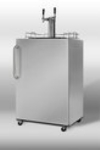 Summit Refrigeration SBC490OSTWIN Beer Dispenser, Outdoor or Indoor, SS, CO2 Tank & Reg, 2 Mini Keg
