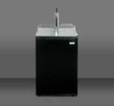 Summit Refrigeration SBC500B7 Beer Dispenser Sankey Tap System/Draft Tower 2 Taps 5lb CO2 Tank/Reg 1 Keg Restaurant Supply