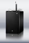 Summit Refrigeration SBC570B Complete Sankey Tap Kit w/ 3-lb CO2 Tank, Regulator & Auto Defrost, Black, 115V