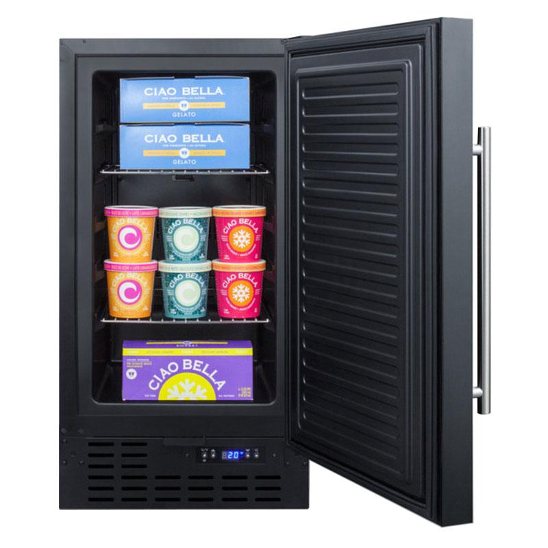 "Summit SCFF1842 17.75"" Undercounter Freezer w/ Frost-Free Operation, 2.7-cu ft, Black"