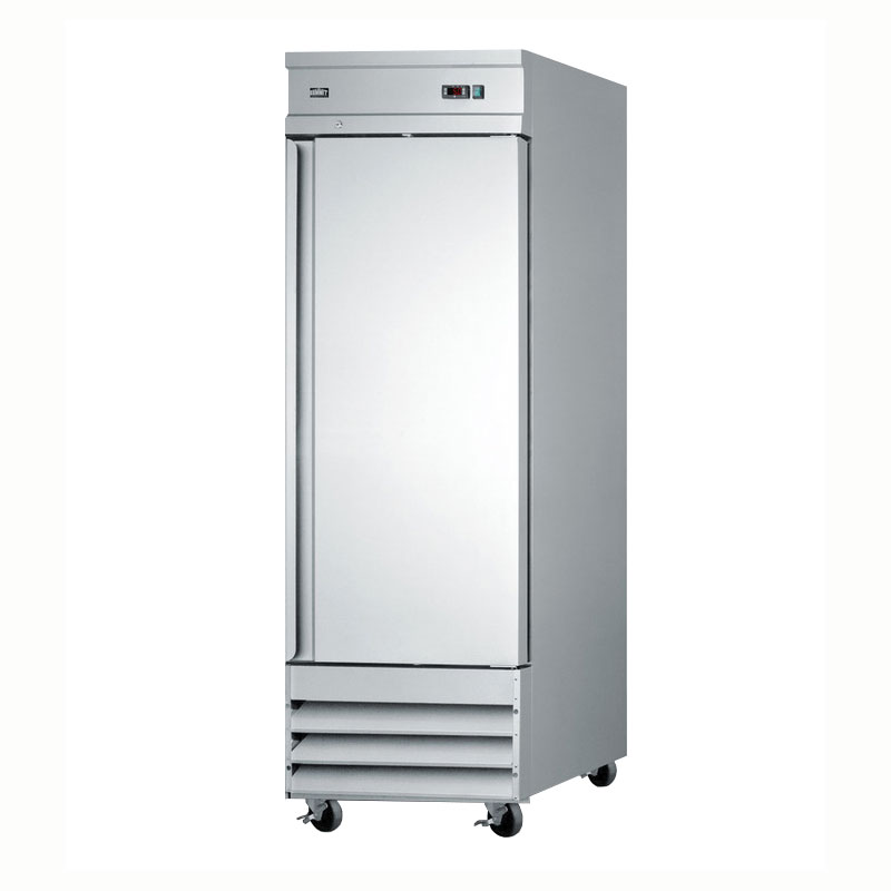 "Summit Refrigeration SCFF235 SS 29"" Single Section Reach-In Freezer, (1) Solid Door, 115v"