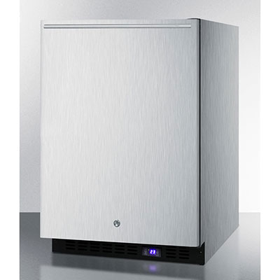Summit Refrigeration SPFF51OSCSSHH 4.72-cu ft Undercounter Freezer w/ (1) Section & (1) Door, 115v