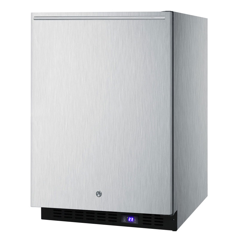 Summit Refrigeration SPFF51OSSSHHIM 4.72-cu ft Undercounter Freezer w/ (1) Section & (1) Door, 115v