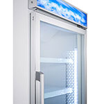 "Summit SCFU1210 27"" One-Section Display Freezer w/ Swinging Door - Bottom Mount Compressor, 115v"