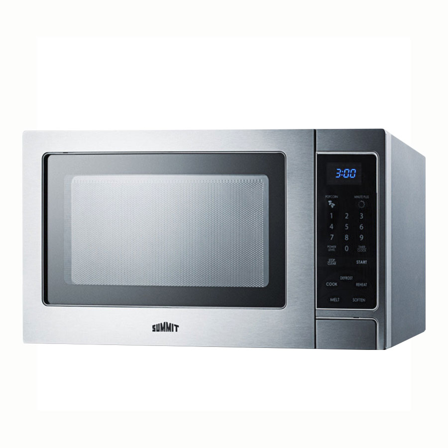 Summit Refrigeration SCM853 Microwave Oven - Rotary Turntable, Digital Controls, Stainless Steel, 115V