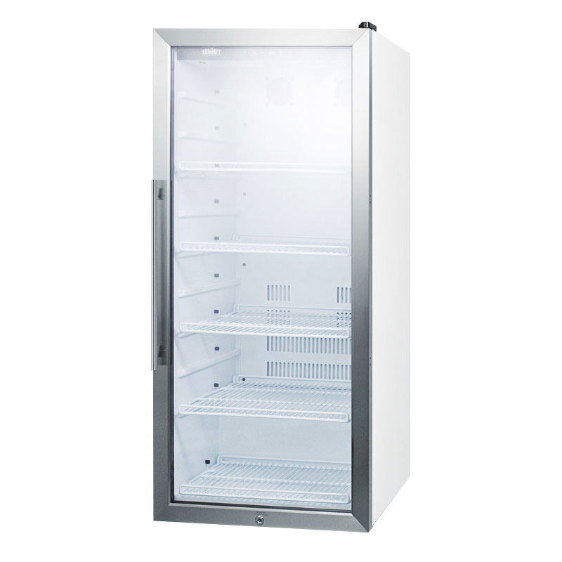 "Summit SCR1005 22"" One-Section Glass Door Merchandiser w/ Swing Door, 115v"