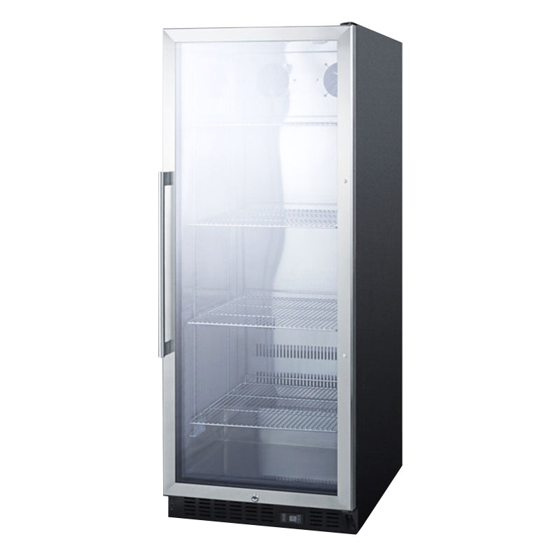 "Summit SCR1156 24"" One-Section Refrigerated Display w/ Swing Door, Bottom Mount Compressor, 115v"