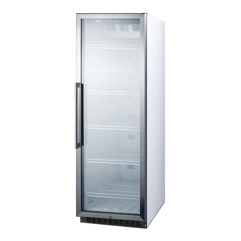 "Summit SCR1400W 24"" One-Section Glass Door Merchandiser w/ Swing Door, 115v"