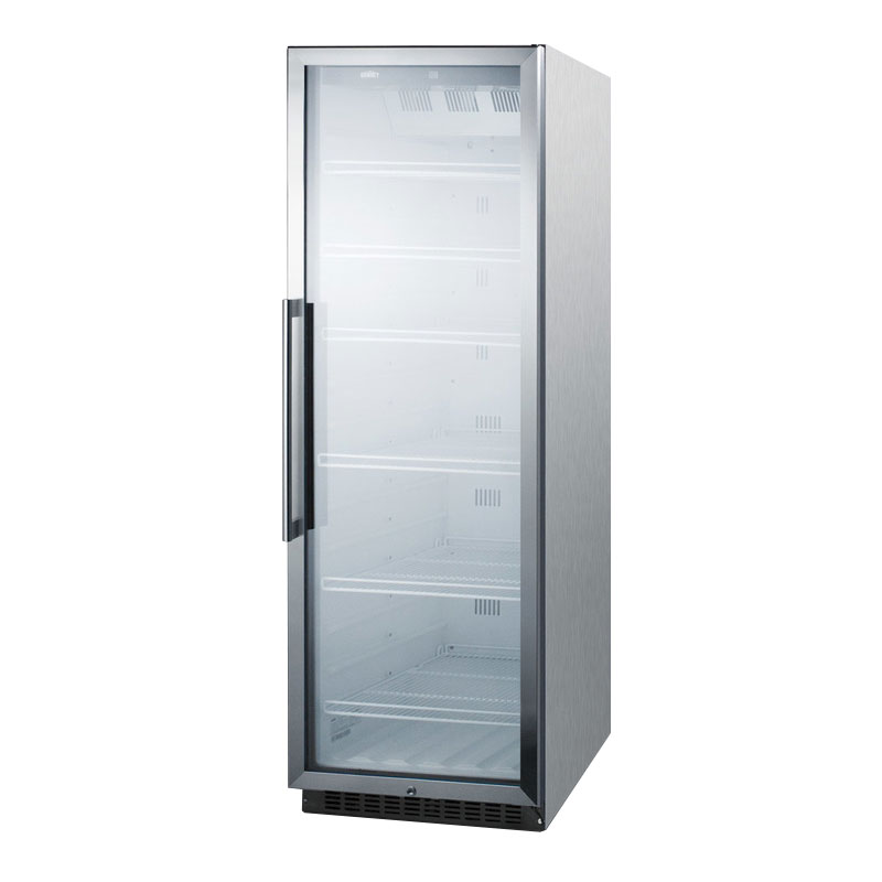 "Summit SCR1400WCSS 24"" One-Section Refrigerated Display w/ Swing Door, Bottom Mount Compressor, 115v"