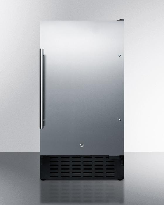 Summit Refrigeration SCR1841CSS 3.3-cu ft Undercounter Refrigerator w/ (1) Section & (1) Door, 115v
