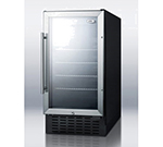 "Summit Refrigeration SCR1841CSS 17.75"" Countertop Refrigeration w/ Front Access - Swing Door, Black, 115v"