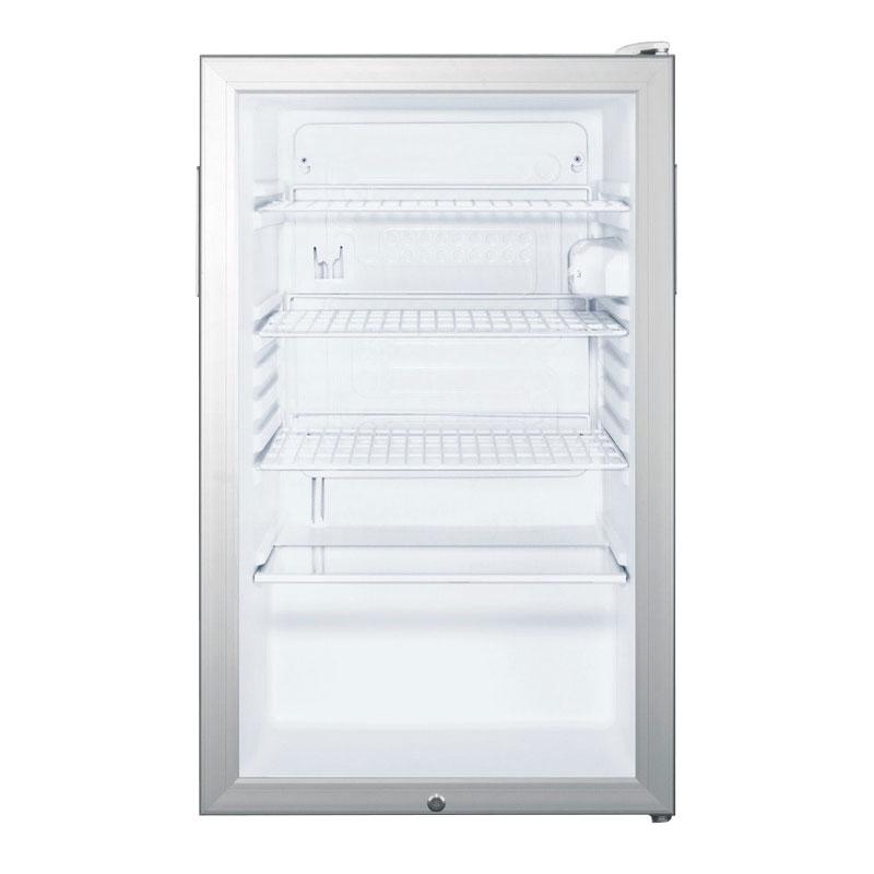 Summit SCR450L 4.1-cu ft Undercounter Refrigerator w/ (1) Section & (1) Door, 115v
