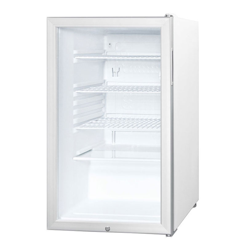 Summit Refrigeration SCR450L 4.1-cu ft Undercounter Refrigerator w/ (1) Section & (1) Door, 115v