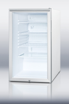 Summit Refrigeration SCR450LBIHHADA 4.1-cu ft Undercounter Refrigerator w/ (1) Section & (1) Door, 115v