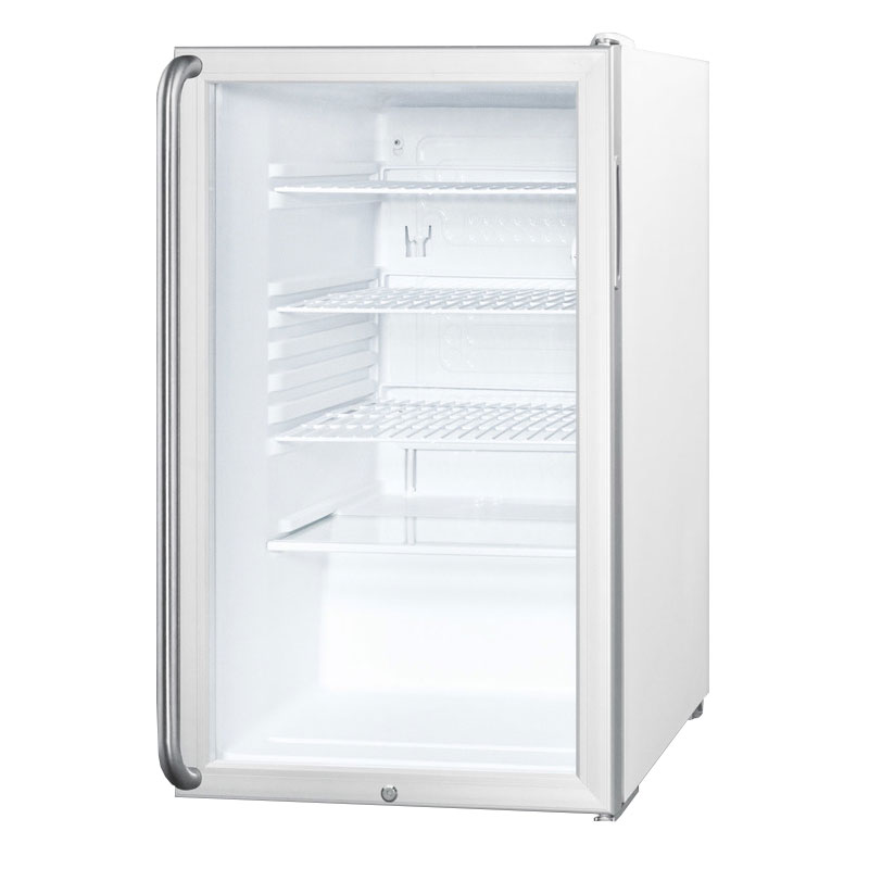Summit Refrigeration SCR450LSH 4.1-cu ft Undercounter Refrigerator w/ (1) Section & (1) Door, 115v