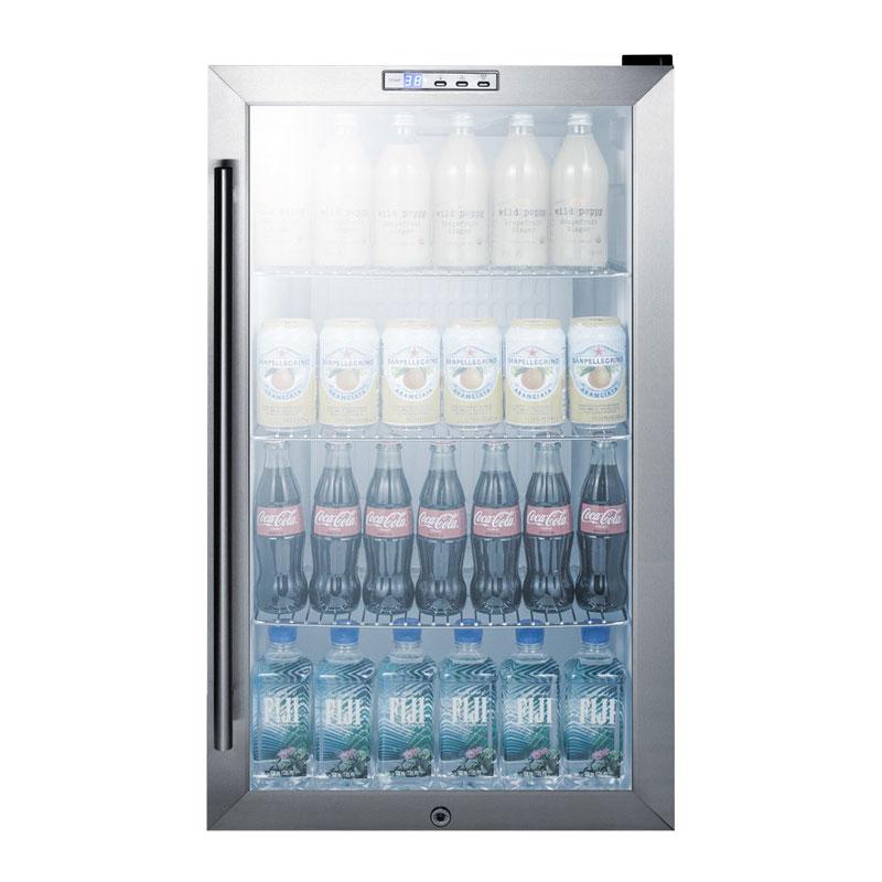 "Summit SCR486L 19"" Countertop Refrigerator w/ Front Access - Swing Door, Black, 115v"