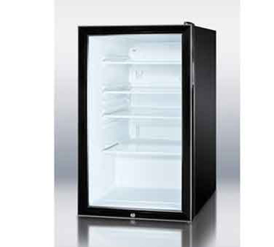 Summit Refrigeration SCR500BL7 4.1-cu ft Undercounter Refrigerator w/ (1) Section & (1) Door, 115v