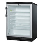 "Summit SCR600BL 24"" Countertop Refrigerator w/ Front Access - Swing Door, Black, 115v"