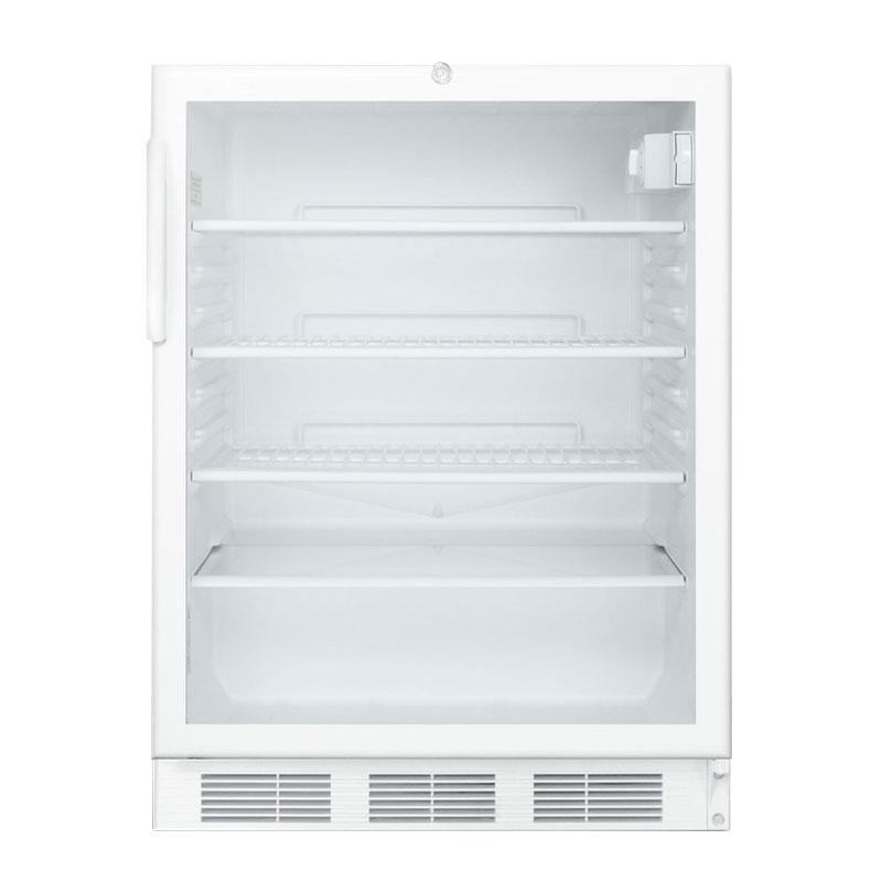 "Summit SCR600LADA 24"" Countertop Refrigerator w/ Front Access - Swing Door, White, 115v"