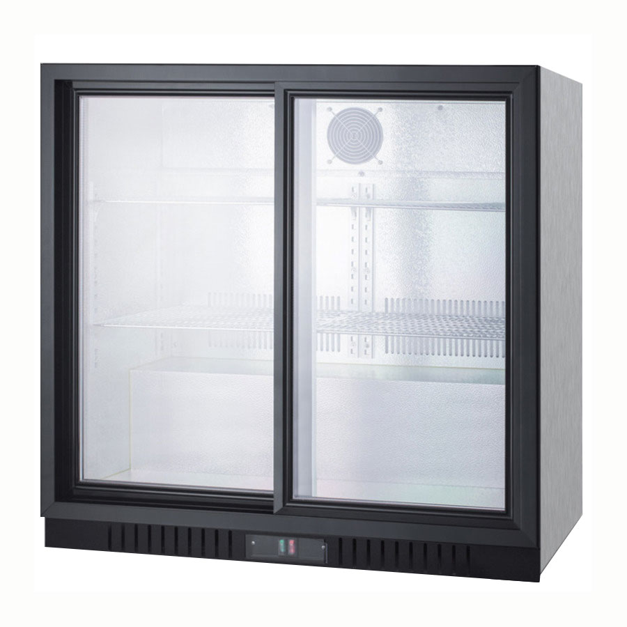 "Summit SCR700CSS 36"" Countertop Refrigerator w/ Front Access - Sliding Door, Stainless, 115v"