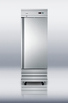 "Summit Refrigeration SCRR230 SS 29"" Single Section Reach-In Refrigerator, (1) Solid Door, 115v"