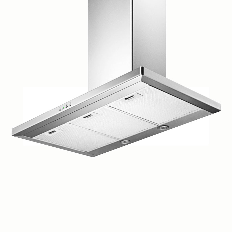 Summit Refrigeration SEH4636 36-in Convertible Range Hood w/ Filter, Adjustable Chimney & 3-Speed Fan, Stainless